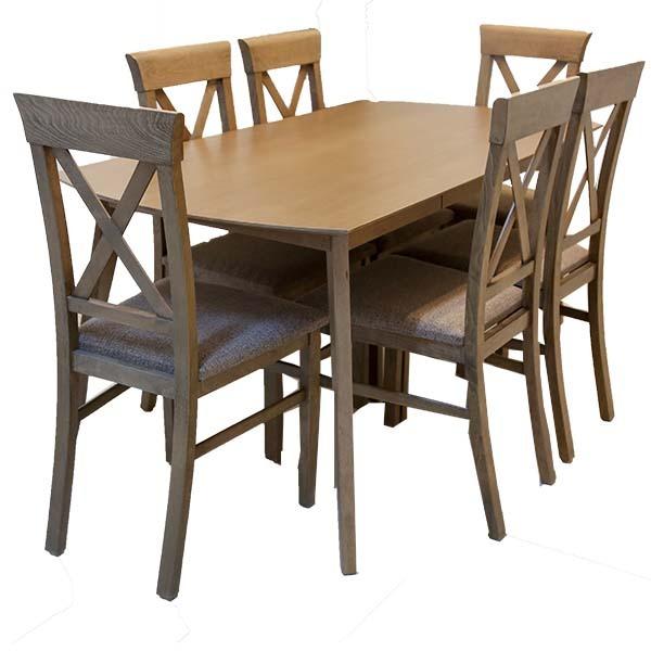 table de cuisine blinz avec 6 chaises 150 80
